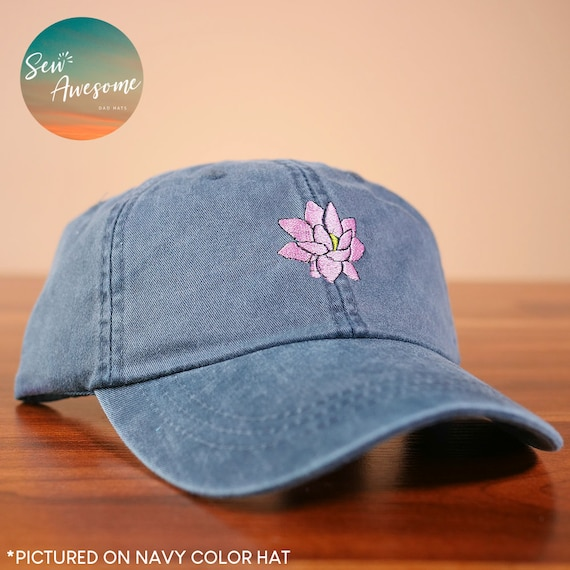 Lotus Flower Dad Hat Embroidered Baseball Hat Boho Dad Hats  792a8f745295
