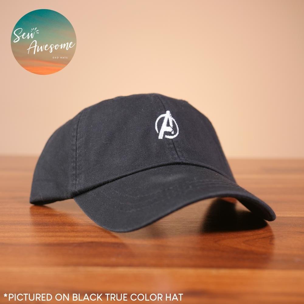 detailing 68ffe 88295 Avengers Dad Hat White Marvel Baseball Cap Custom   Etsy