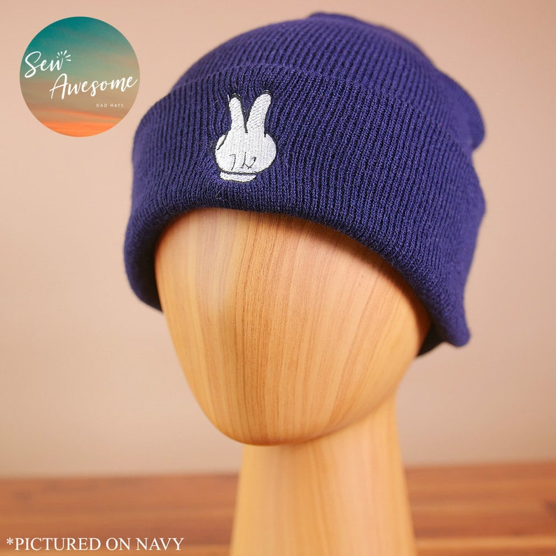 5f8010d598ef9 Mickey Mouse Peace Beanie Disney Embroidered Beanie Winter