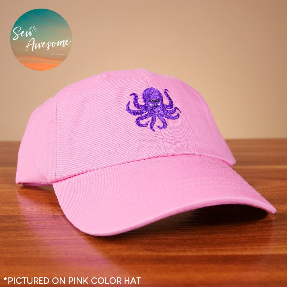 Octopus Dad Hat Embroidered Animal Dad Cap Cute Girlfriend  8288e5bd0ad1
