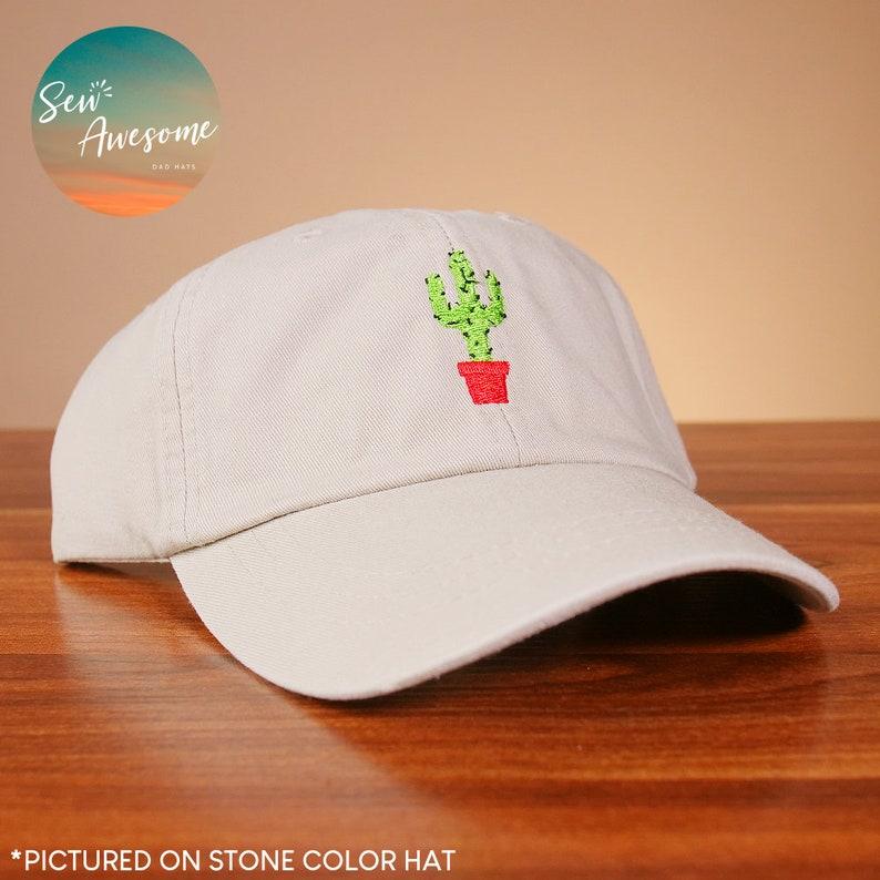 Cactus Dad Hat Cute Cactus Baseball Cap Embroidered Dad Cap  487430e373b5