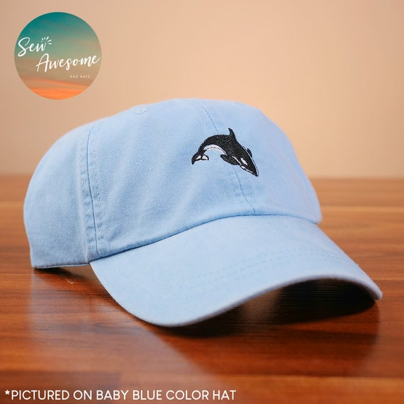 9b51eac94bef6 Cute Orca hat Embroidered Baseball Hat Killer Whale Hat