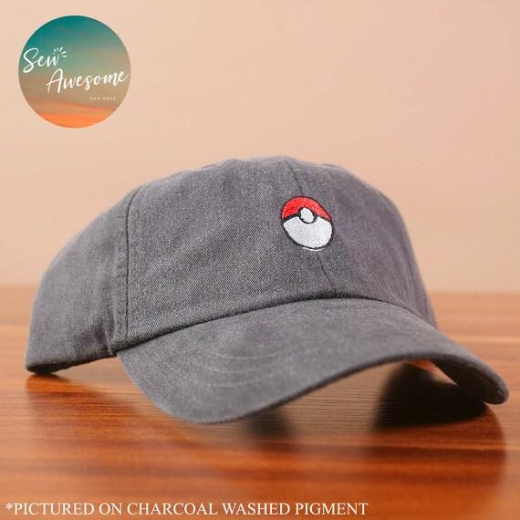 c2b8bdf3820 Pokemon Dad Hat Pokeball Baseball Cap Custom Embroidery