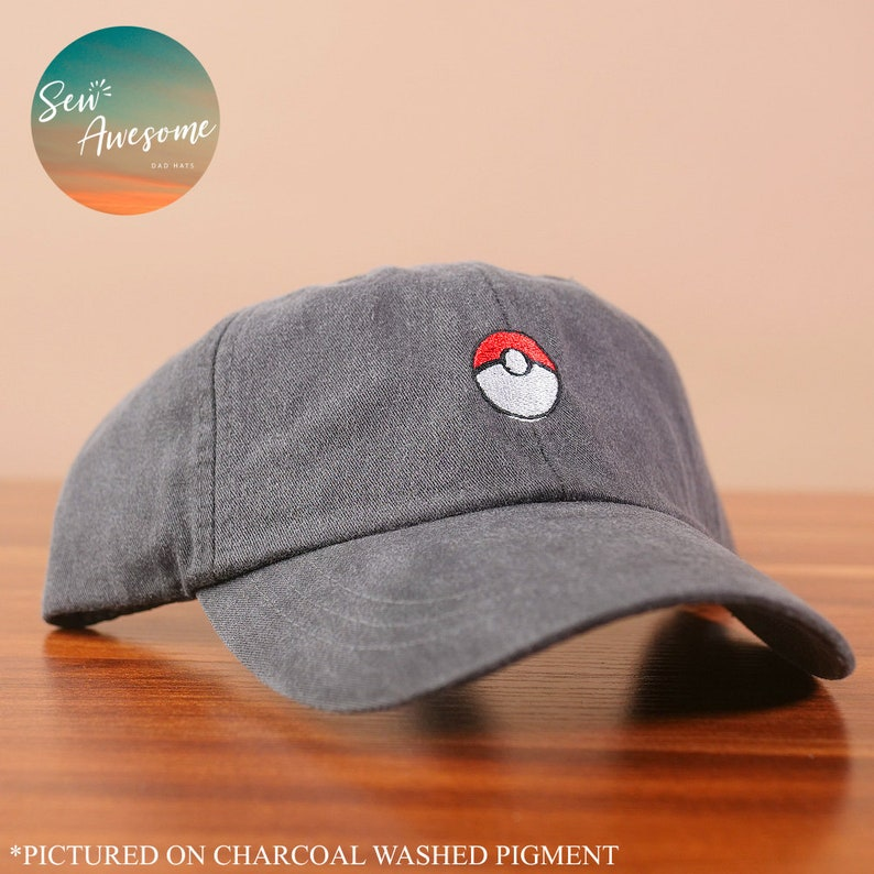 Pokemon Dad Hat, Pokeball Baseball Cap, Custom Embroidery, Best Friend  Gift, Personalized, Embroidered Hat