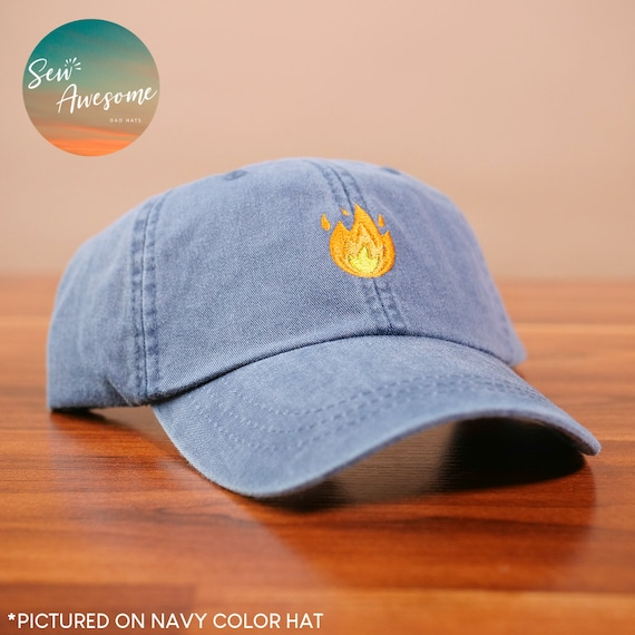 1692145fdf8 Emoji Fire Dad Hat Funny Best Friend Gift Boyfriend Baseball