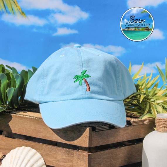 3c9334b8a19 Palm Tree Embroidered Dad Hat Cute Palm Tree Baseball Hat