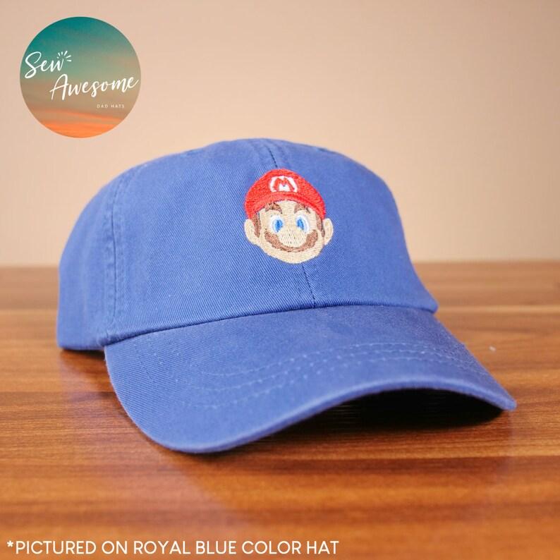 129fa6bb67 Mario Dad Hat Nintendo Baseball Cap Geek Dad Hats Best