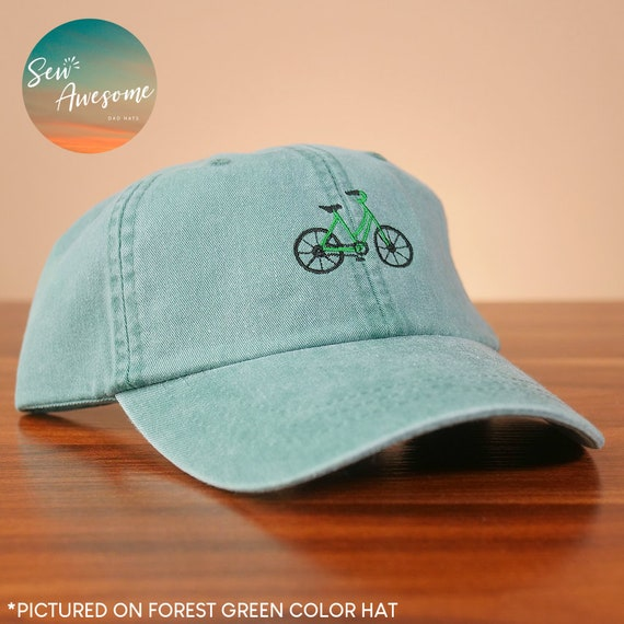 7851f55f1b0a7 Bike Dad Hat Embroidered Bicycle Baseball Cap Adventure Dad