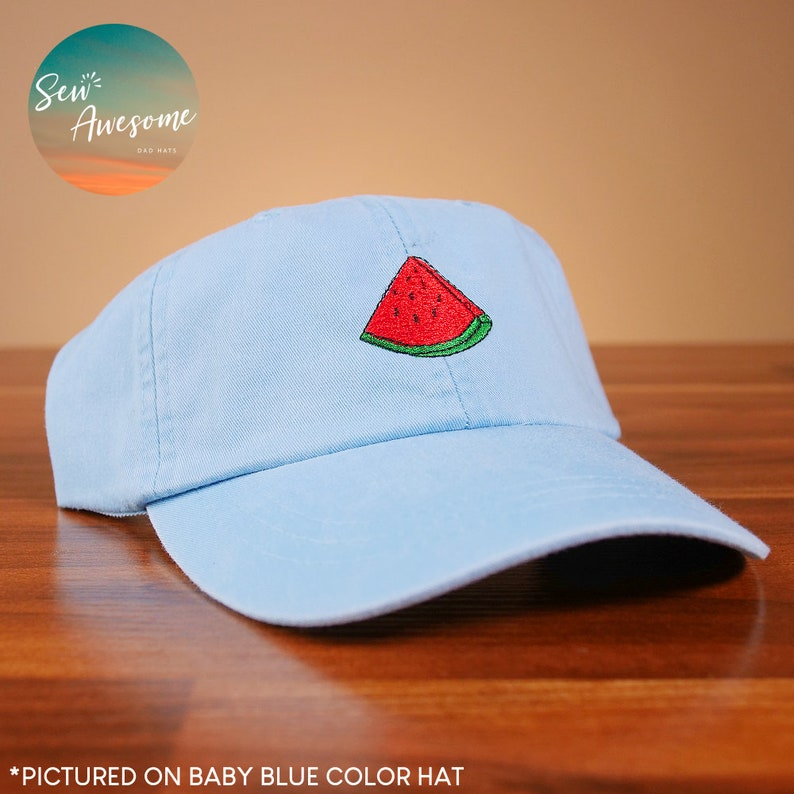 1dee2a06d0bcf Watermelon Dad Hat Food Baseball Cap Cute Custom Embroidery