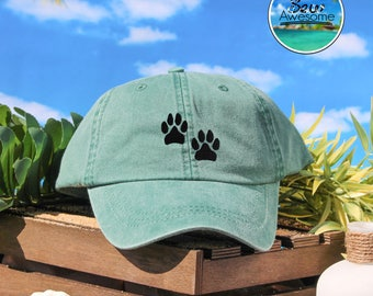 Cute Dog Paws Embroidered Baseball Hat, Dog Lover Gift Hat, Dog Lover Gift, Choose Your Own Color Hat, Customized Hat, Low Profile Hat