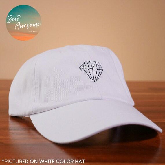 a986ccc6829 White Diamond Baseball Hat Cute Diamond Dad Hat Boyfriend