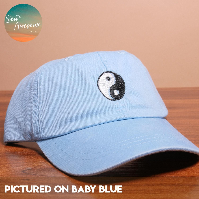 Cute Yin Yang Embroidered Baseball Hat Yin Yang Dad Hat Boho  954f9c9687d