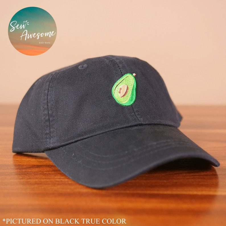 c8959853d2f3b Avocado Dad Hat Food Lover Embroidered Baseball Cap Foodie
