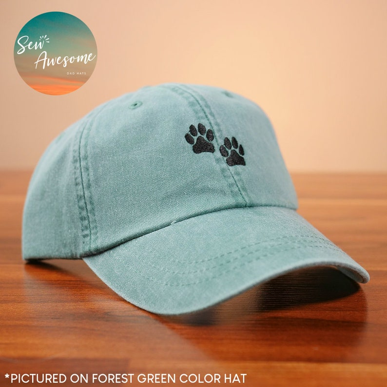 a4a457bb909 Dog Paws Dad Hat Dog Mom Gift Dog Baseball Cap Cute