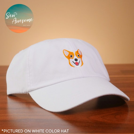 Corgi Embroidered Dad Hat Cute Corgi Baseball Hat Funny  f44802985e5