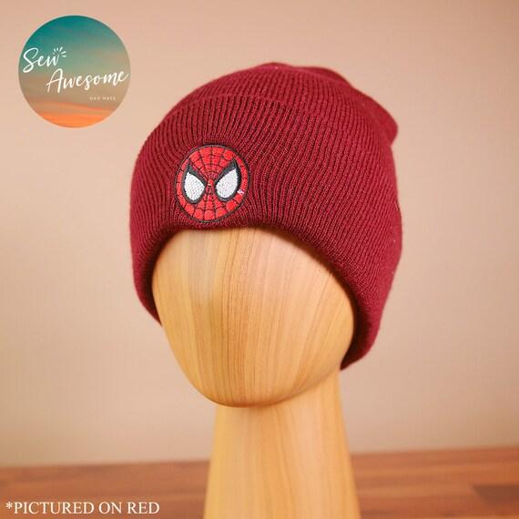 Spiderman Beanie Marvel Embroidered Beanie Spider Man Winter  e5407b26ad7