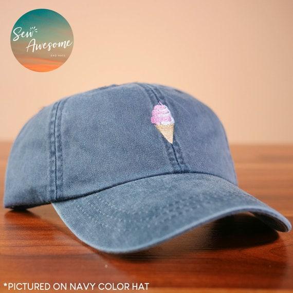 75982d642b1 Ice Cream Cone Dad Hat Cute Baseball Hats Food Dad Cap