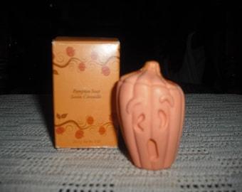 Avon's take on a decorative pumpkin soap.