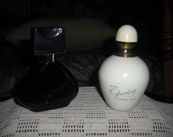 Two Avon spray decanters with Fanrastique and Wishing fragrances