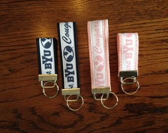 BYU Key Fob, BYU Keychain, BYU Wristlet, Byu Key Fob Set, Byu Graduation Gift, Byu Wristlet, Brigham Young, Keychain, Byu Stocking Stuffer