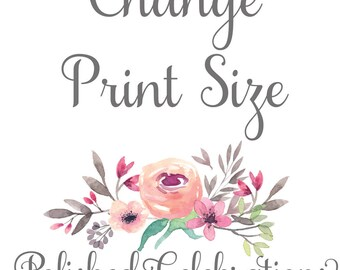 Change Print Size / Instant Download / Wall Art / Decor / Print / Sign / Home Nursery and Office Decor