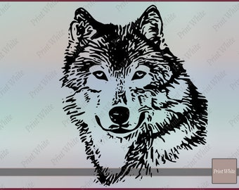 Wolf Face Svg Etsy