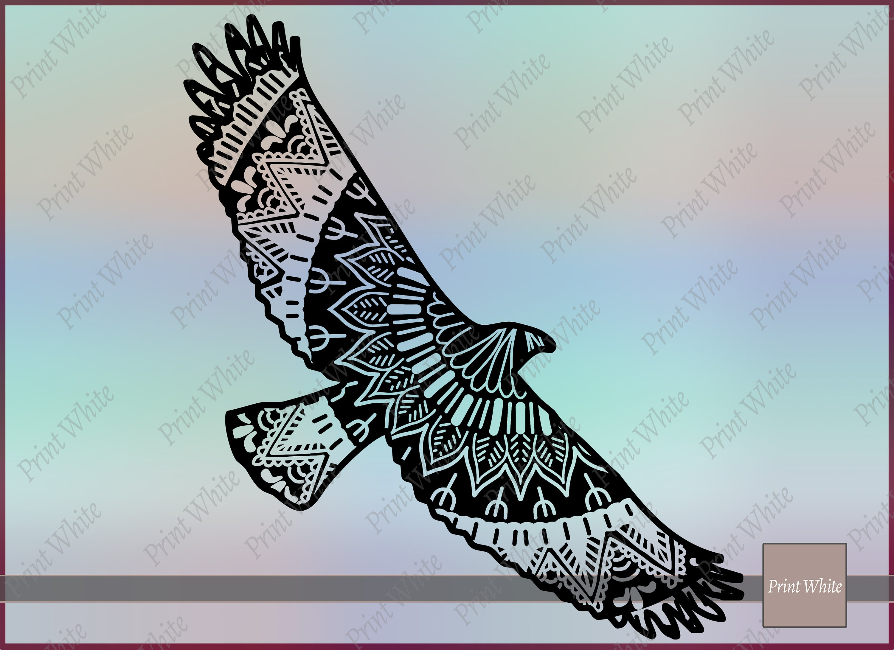 91ca09b47ff99 Eagle Svg Eagle Vector Zentangle Eagle Mandala Animal Svg | Etsy