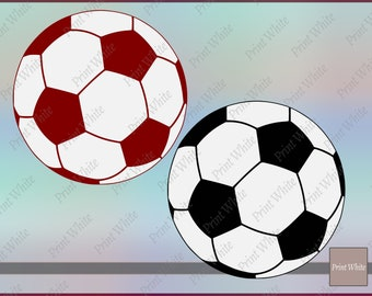 Football Svg Football Silhouette Football Clipart Football Cutting File Cricut Cut File Football Vector Black And White World Cup Png Files