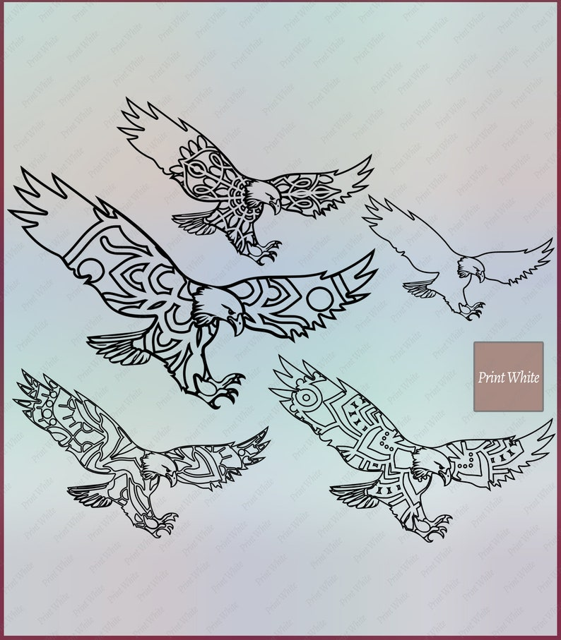 Eagle Stencil Digital Download Svg Png Dxf Eagle Svg Eagle Outline Eagle  Silhouette Eagle Cut File Printable Eagle Cricut Cutting Files