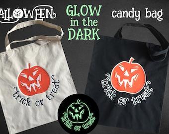 Halloween bag, trick or treat bag, candy bag, halloween treat tote, personalized halloween bag, halloween bag, kids candy bag