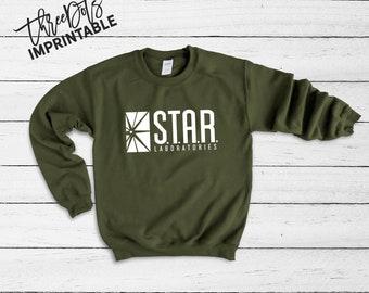 36b4f7ab4 STAR Laboratories Sweatshirt, Star Labs, Team Flash, Star Labs shirt, STAR  Labs unisex crewneck, custom sweatshirt, Tumblr shirt.
