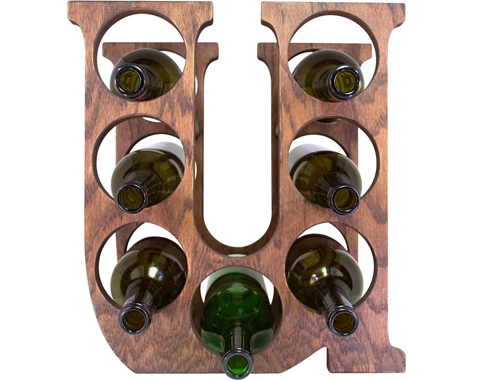 Letter U Wine Rack Front