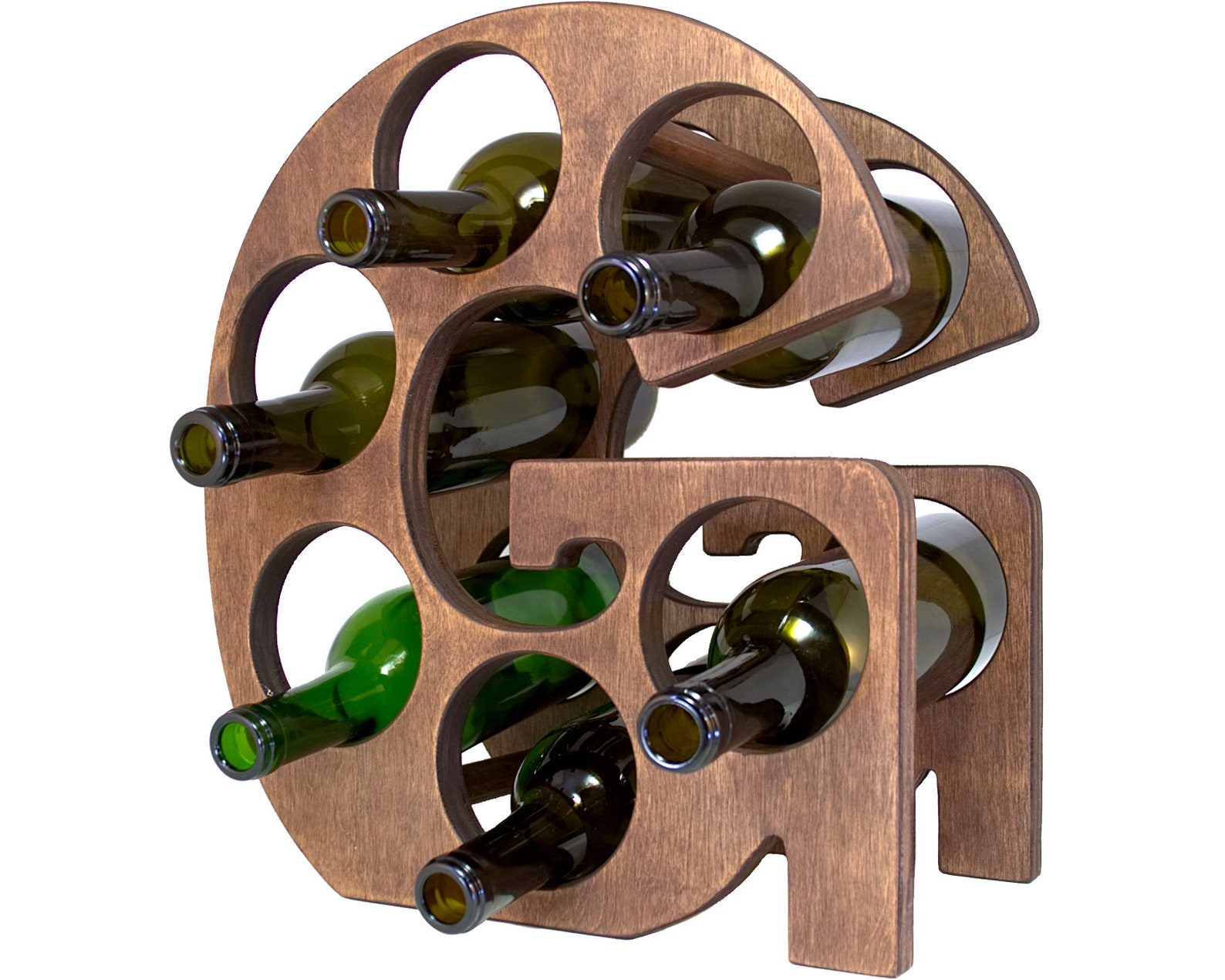 Letter G Wine Rack Left