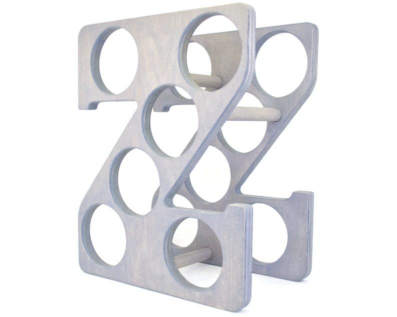 Letter Z Wine Rack Gray - Left