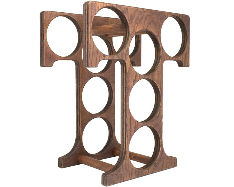 Letter T Wine Rack Right