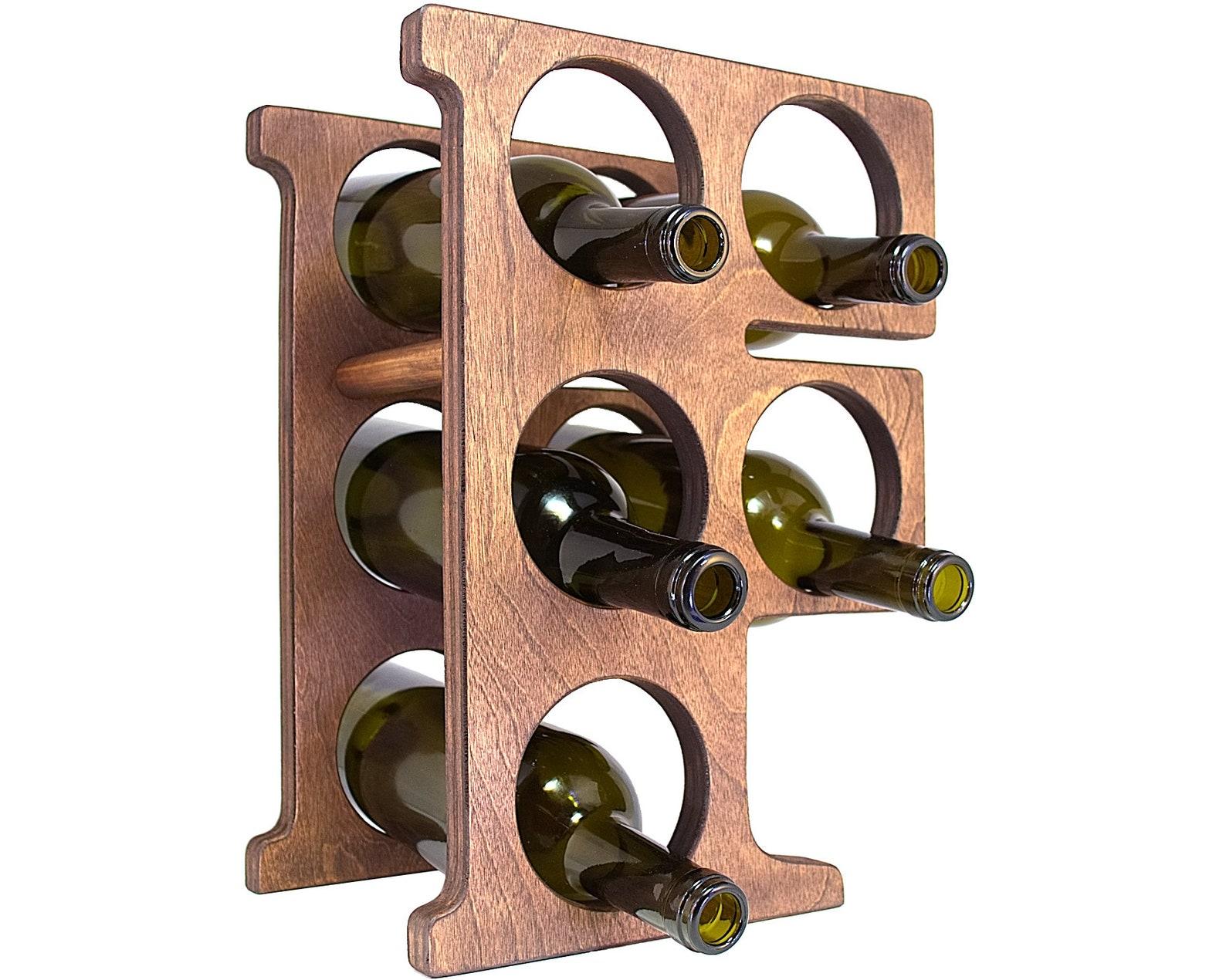 Letter F Wine Rack Right