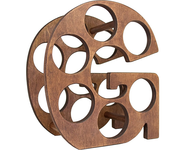 Letter G Wine Rack Right