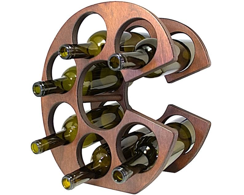 Letter C Wine Rack Front