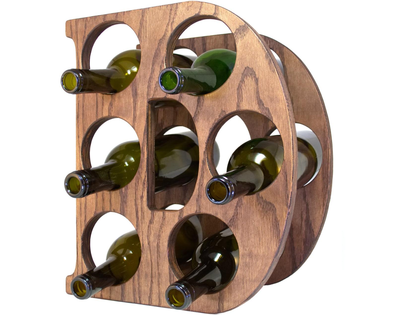 Letter D Wine Rack Left