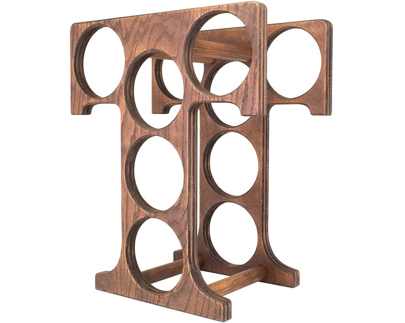 Letter T Wine Rack Left