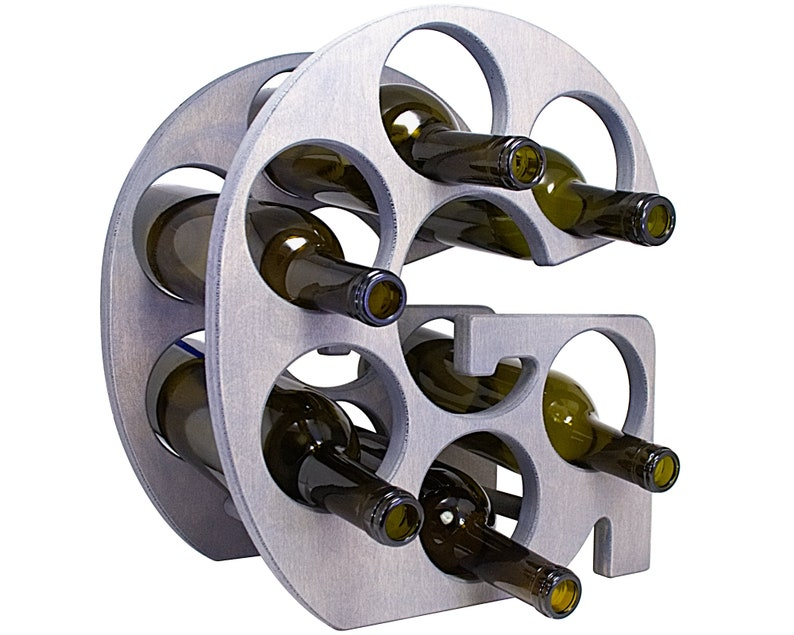 Letter G Wine Rack - Weathered Gray - Right