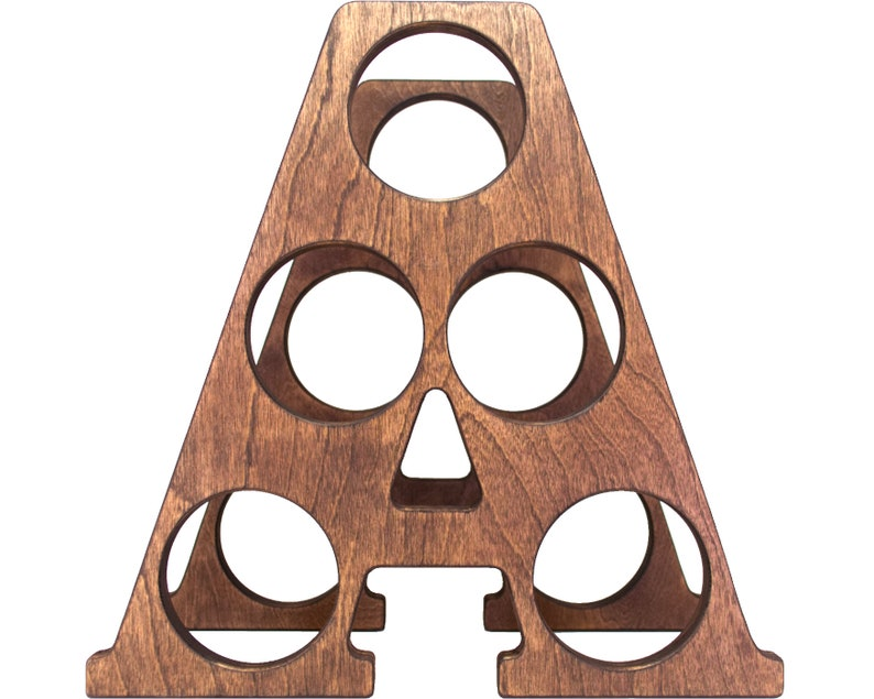 Letter A Wine Rack Front