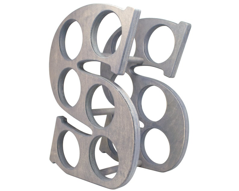 Letter S Wine Rack Left