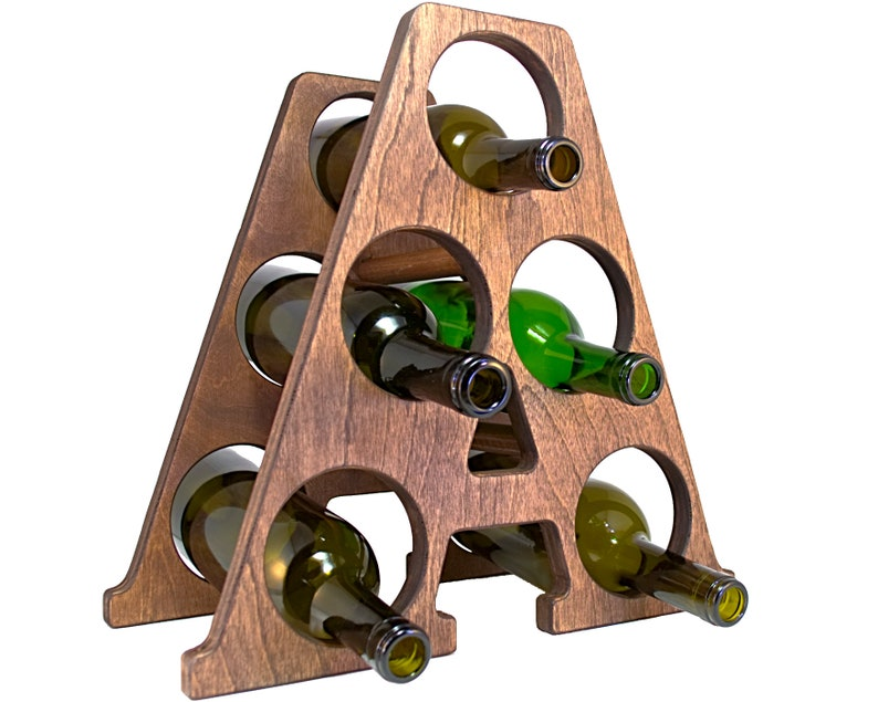 Letter A Wine Rack Right