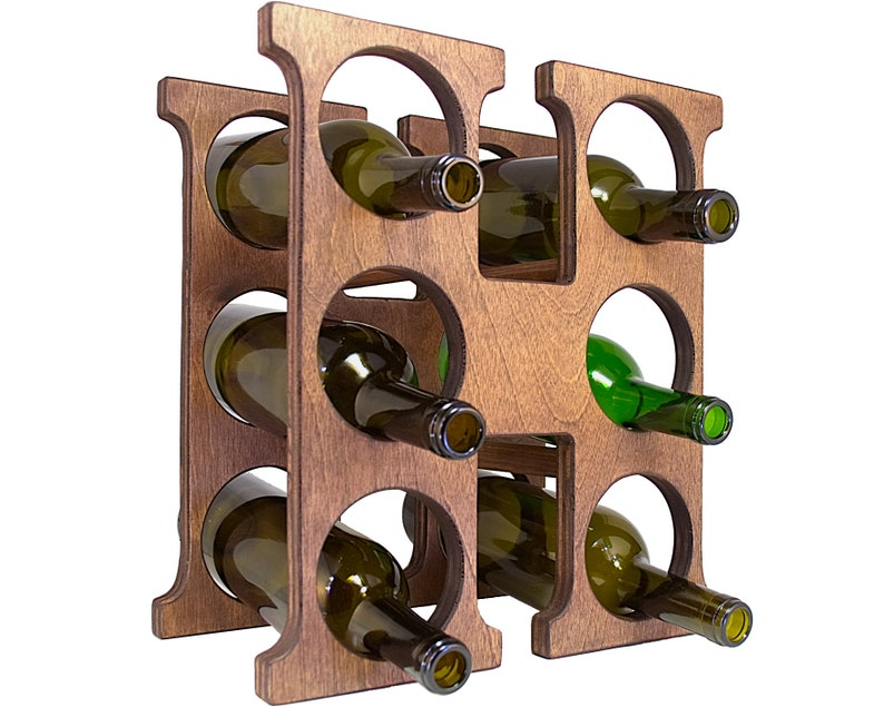 Letter H Wine Rack Right