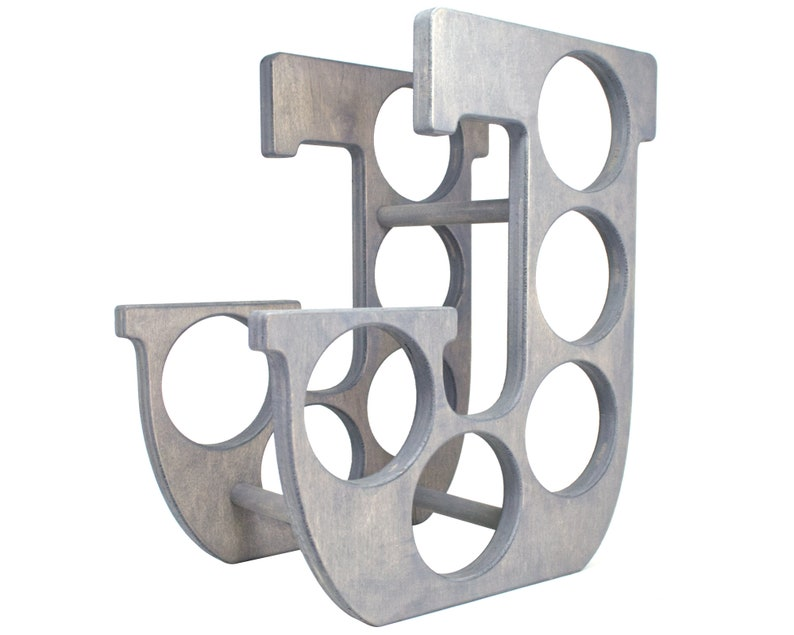 Letter J Wine Rack Gray - Right