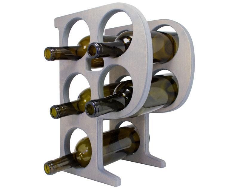 Letter P Wine Rack Gray - Left