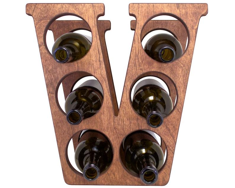 Letter V Wine Rack Carrington - Front