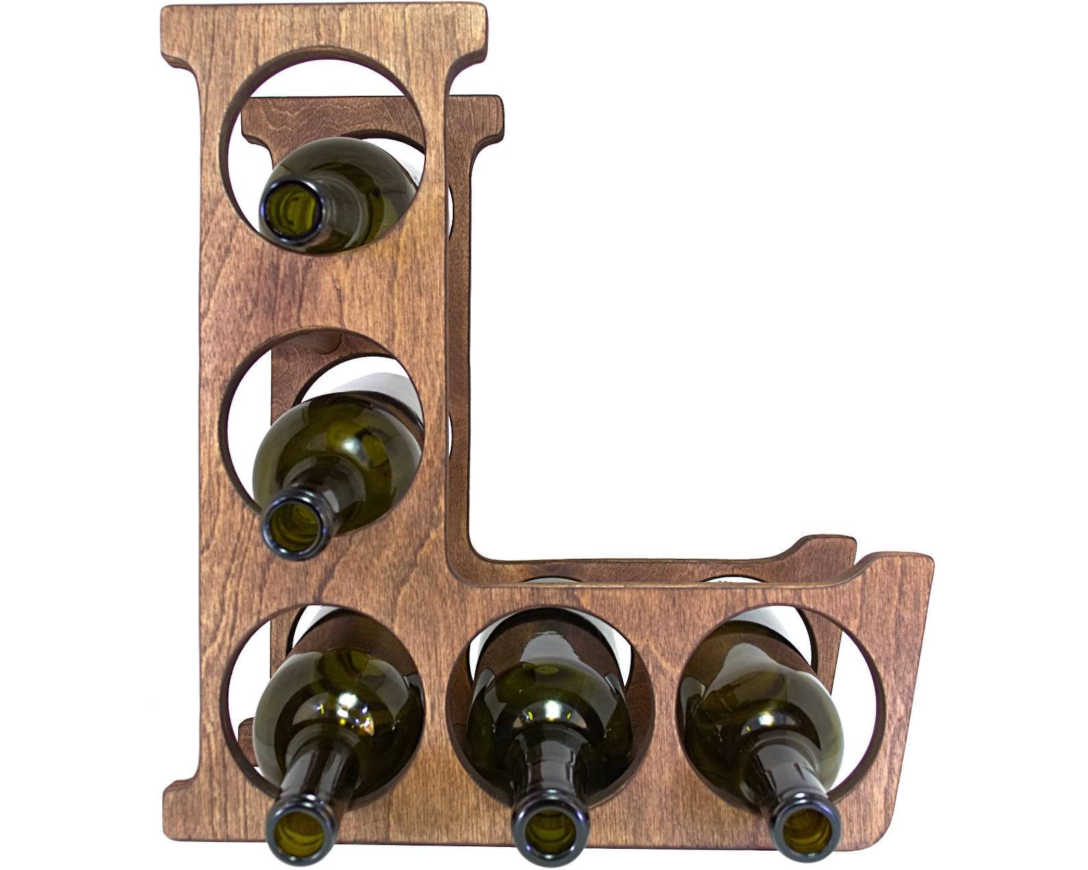Letter L Wine Rack Front