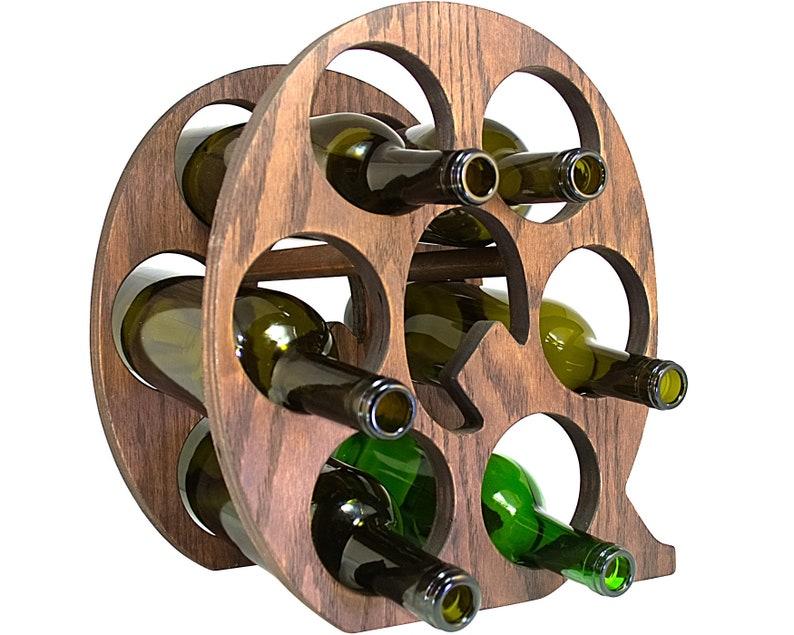 Letter Q Wine Rack Right